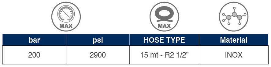 Hose Reel Type 5 tabelle 01