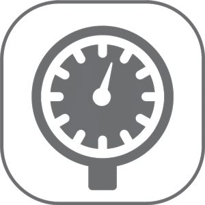 Glycerine filled pressure gauge Comet Icon