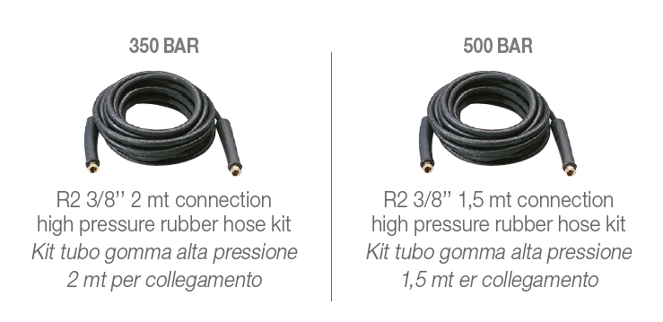 HOT BOX 350-500 bar Standard Accessories